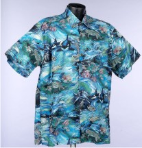 Under The Seas- Dolphins, Whales, and Underwater Reef Hawaiian shirts and Aloha Shirts