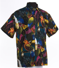Parrot and Exotic Birds Hawaiian Aloha Shirt