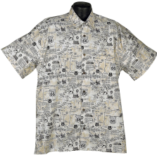 Route 66  Hawaiian aloha shirt