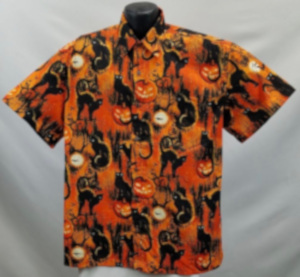 Black Cats Halloween Hawaiian Shirt