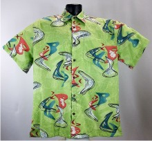 Boomerang Bark Cloth Hawaiian Shirt