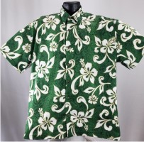 Classic green Hibiscus Hawaiian Shirt