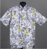 Reverse printed Hawaiian Shirt