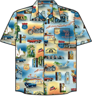 Mother Road Route 66 Hawaiian Shirt