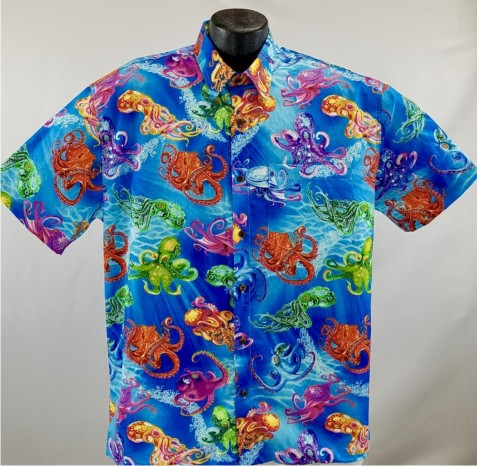 Octopus Hawaiian Aloha shirt