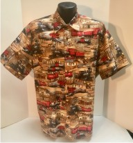 Train and Railroad Hawaiian aloha shirt