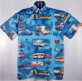 Vintage Trailer Hawaiian Shirt