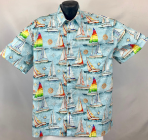 Sailing and Sailboat Hawaiian Aloha Shirt