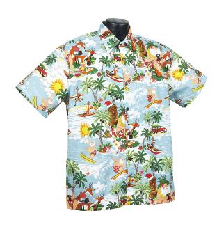 Christmas Hawaiian Shirts.Tiki Christmas
