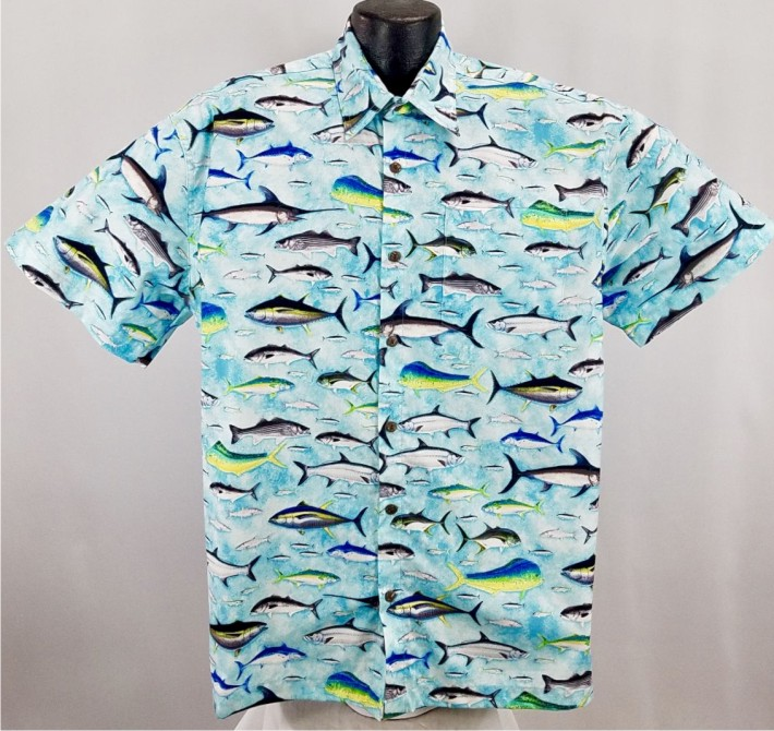 Fishing hawaiian shirt for Fish hawaiian shirt